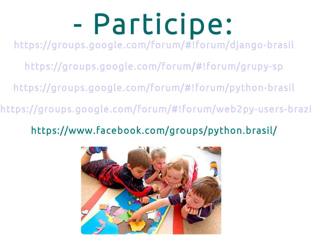 - Participe: https://groups.google.com/forum/#!...