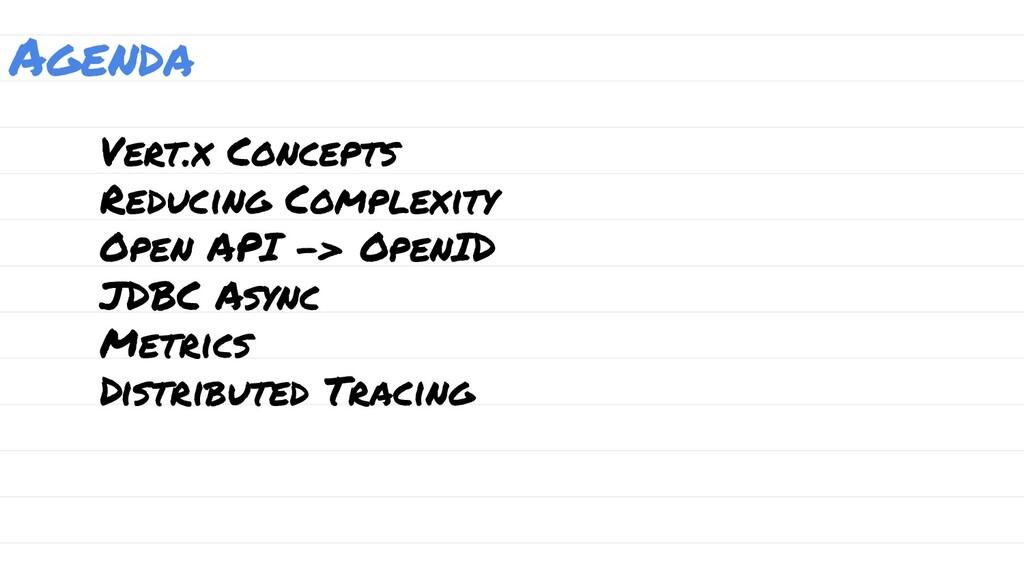 Agenda Vert.x Concepts Reducing Complexity Open...