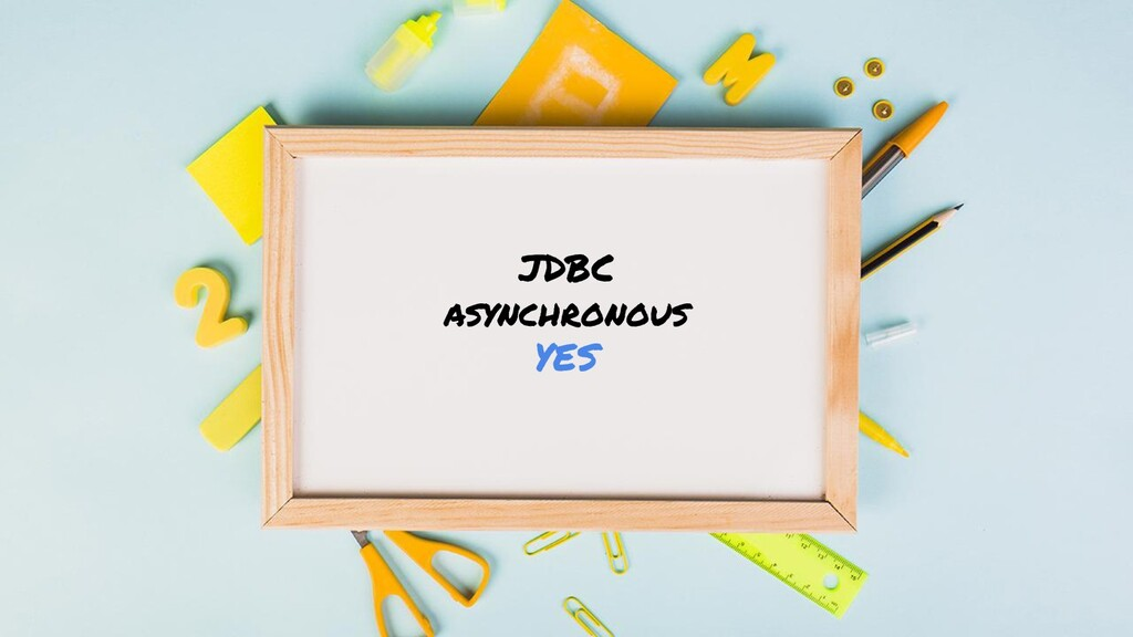 JDBC asynchronous YES