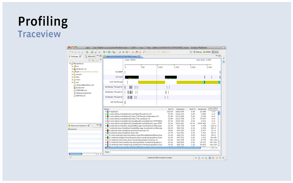 Profiling Traceview
