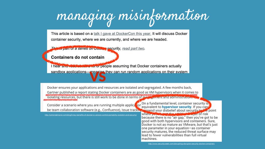 managing misinformation VS http://iamondemand.c...
