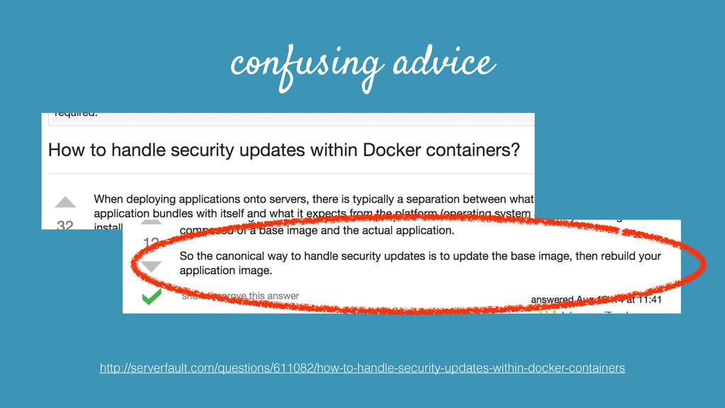 confusing advice http://serverfault.com/questio...