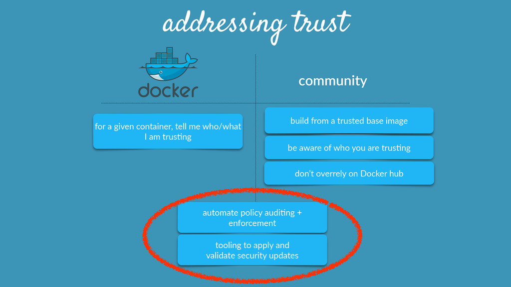 community  addressing trust automate policy ...