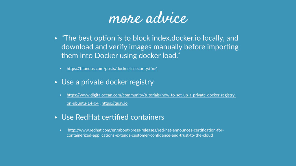 """more advice • """"The best opPon is to block ..."""