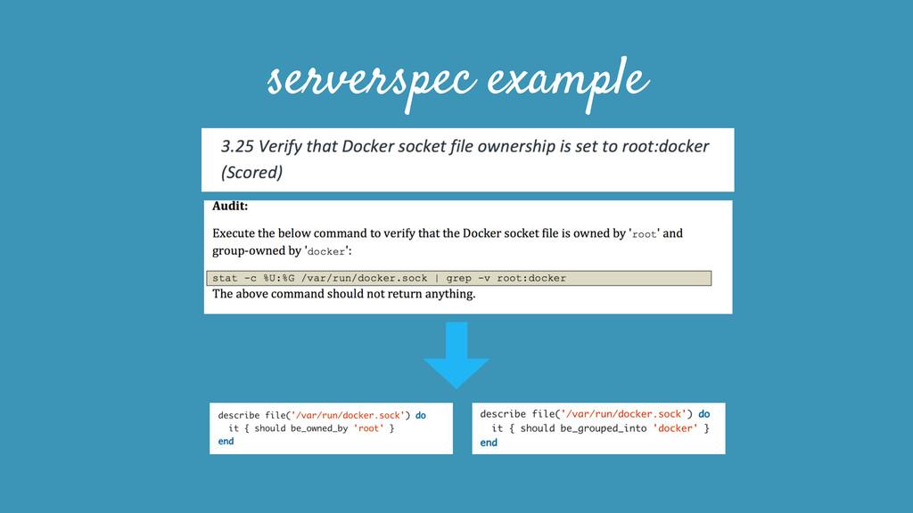 serverspec example