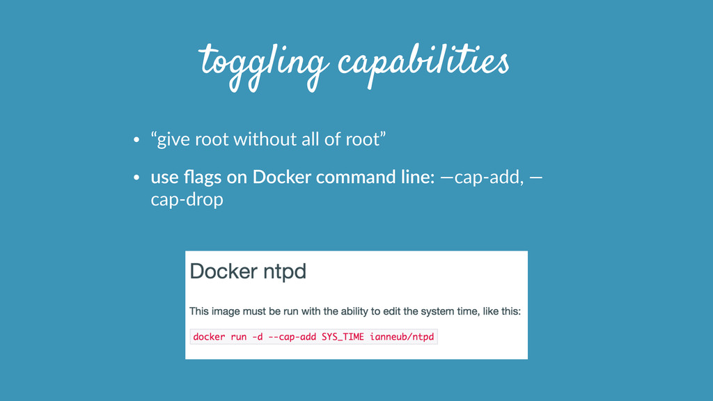 "toggling capabilities • ""give  root  without  a..."