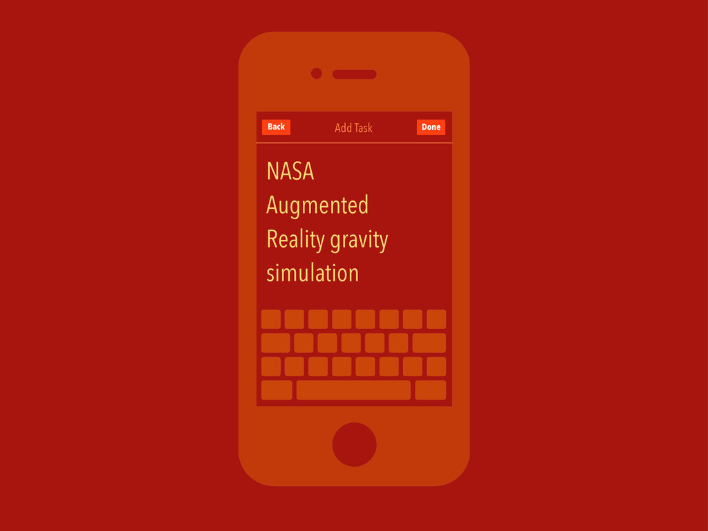 Add Task Back NASA Augmented Reality gravity si...