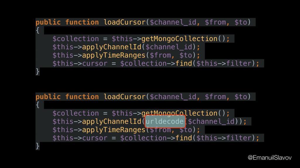 public function loadCursor($channel_id, $from, ...