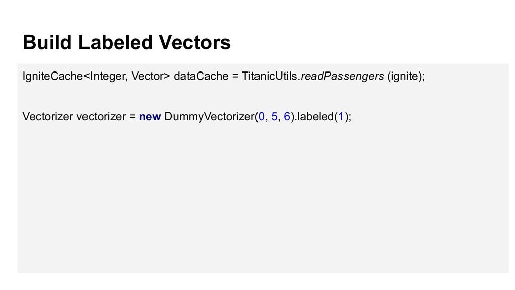 Build Labeled Vectors IgniteCache<Integer, Vect...