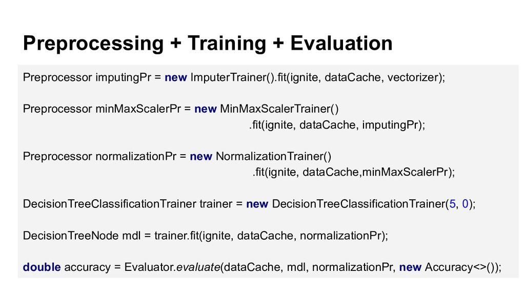 Preprocessing + Training + Evaluation Preproces...