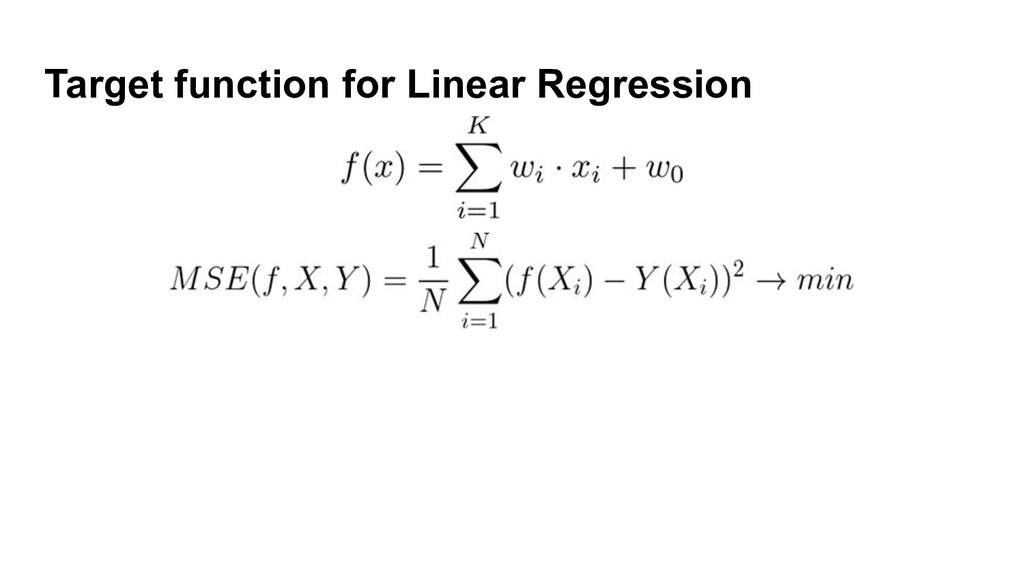 Target function for Linear Regression
