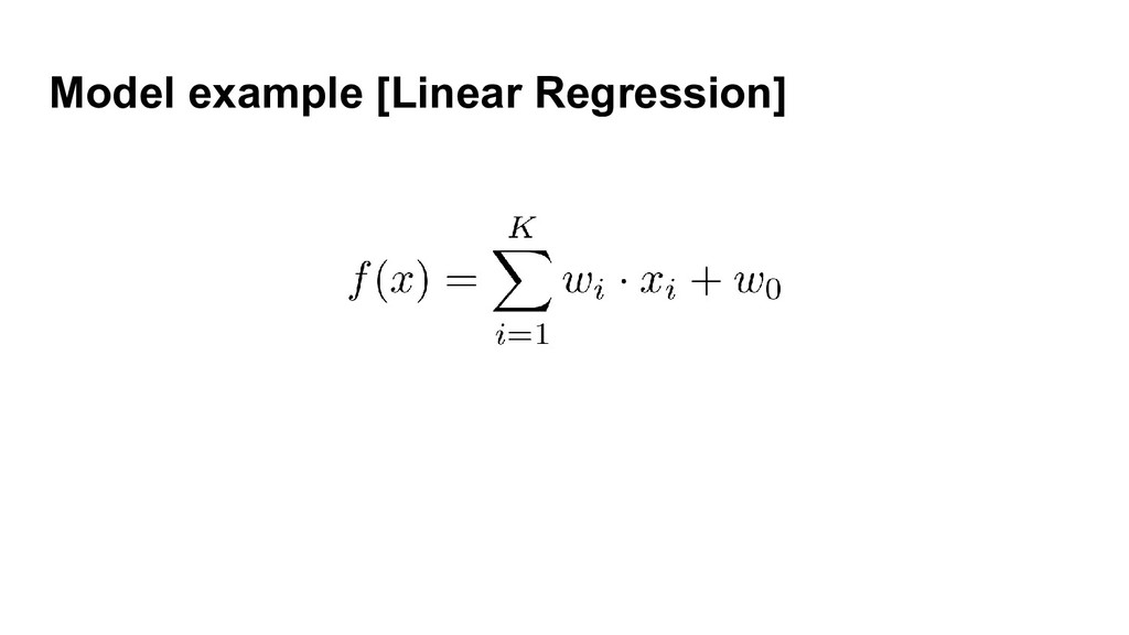Model example [Linear Regression]