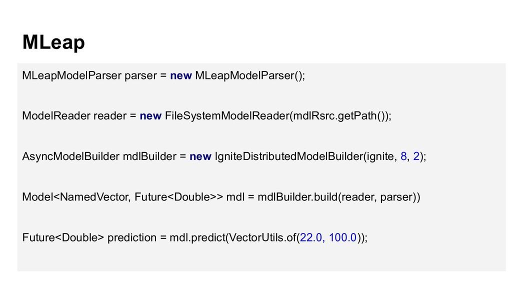 MLeap MLeapModelParser parser = new MLeapModelP...