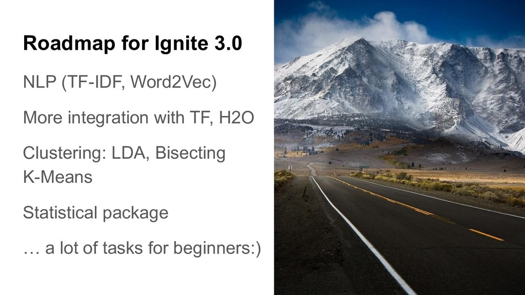 NLP (TF-IDF, Word2Vec) More integration with TF...