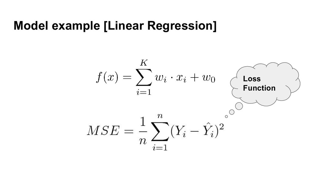 Model example [Linear Regression] Loss Function