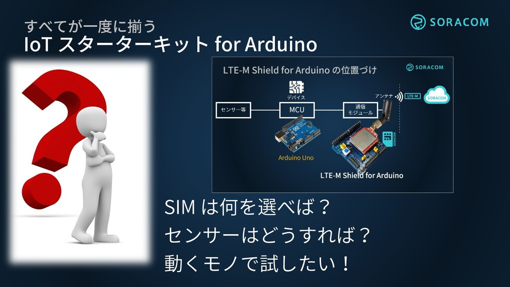 すべてが一度に揃う IoT スターターキット for Arduino SIM は何を選べば? ...