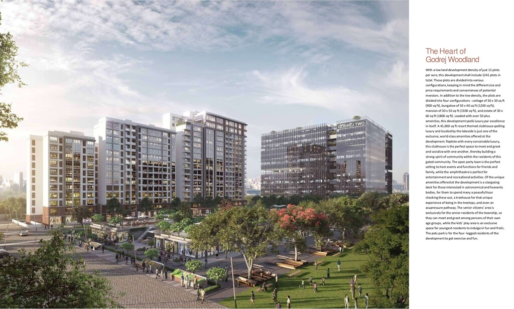 4 6 The Heart of Godrej Woodland With a low lan...