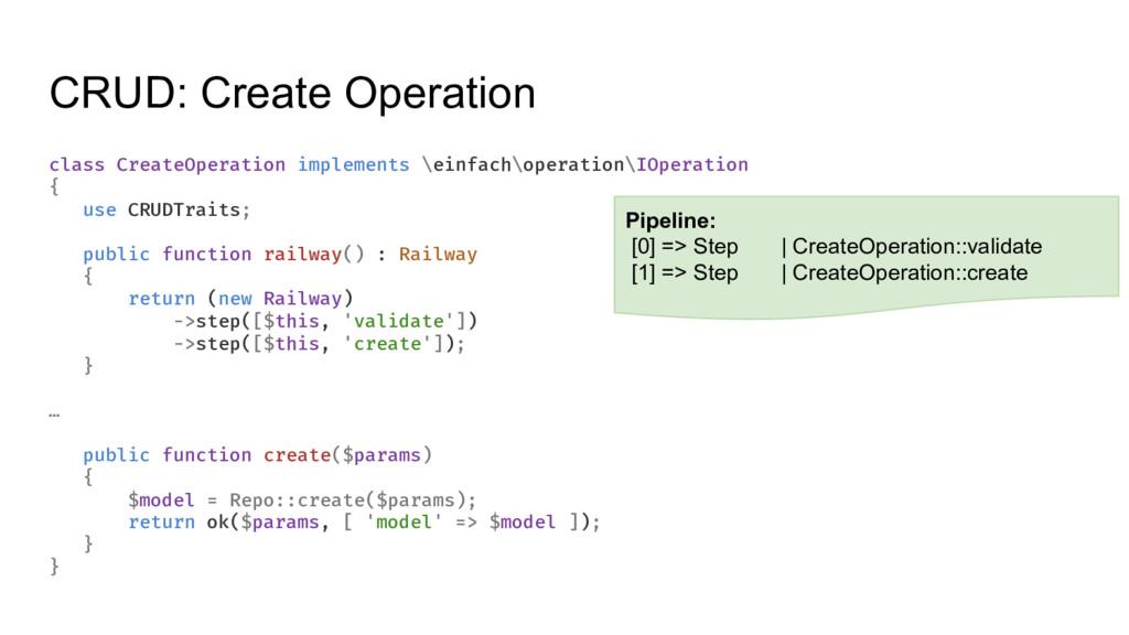 CRUD: Create Operation class CreateOperation im...