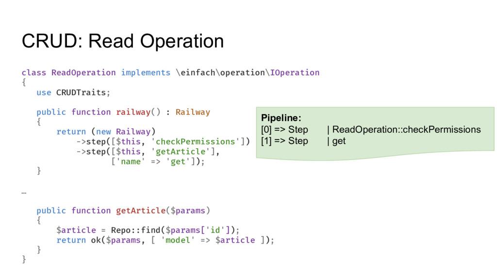CRUD: Read Operation class ReadOperation implem...
