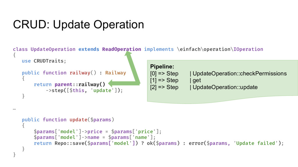 CRUD: Update Operation class UpdateOperation ex...