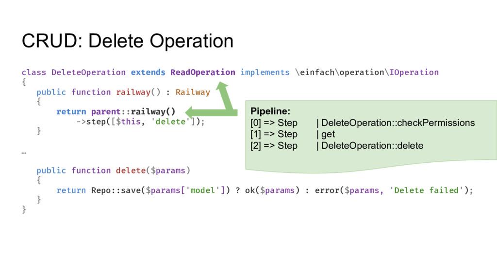 CRUD: Delete Operation class DeleteOperation ex...