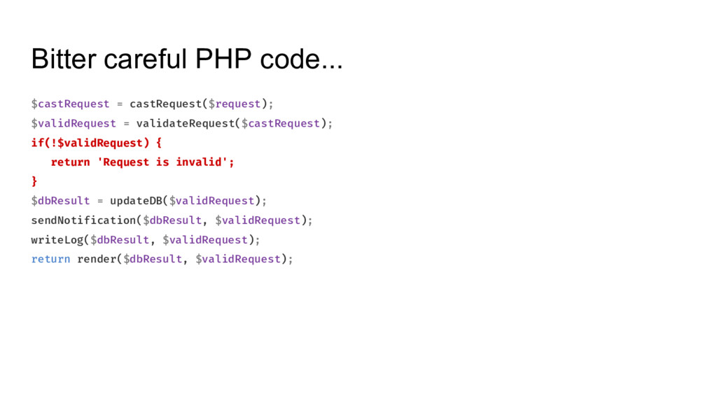 Bitter careful PHP code... $castRequest = castR...
