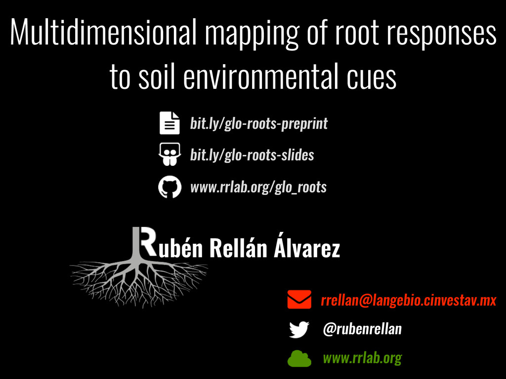 Multidimensional mapping of root responses to s...