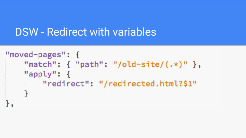 DSW - Redirect with variables
