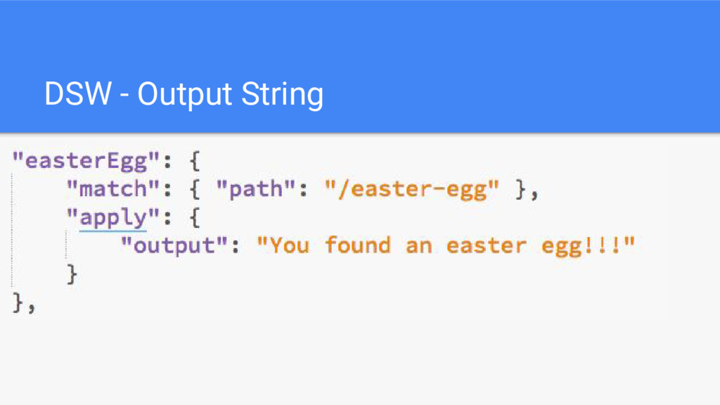 DSW - Output String