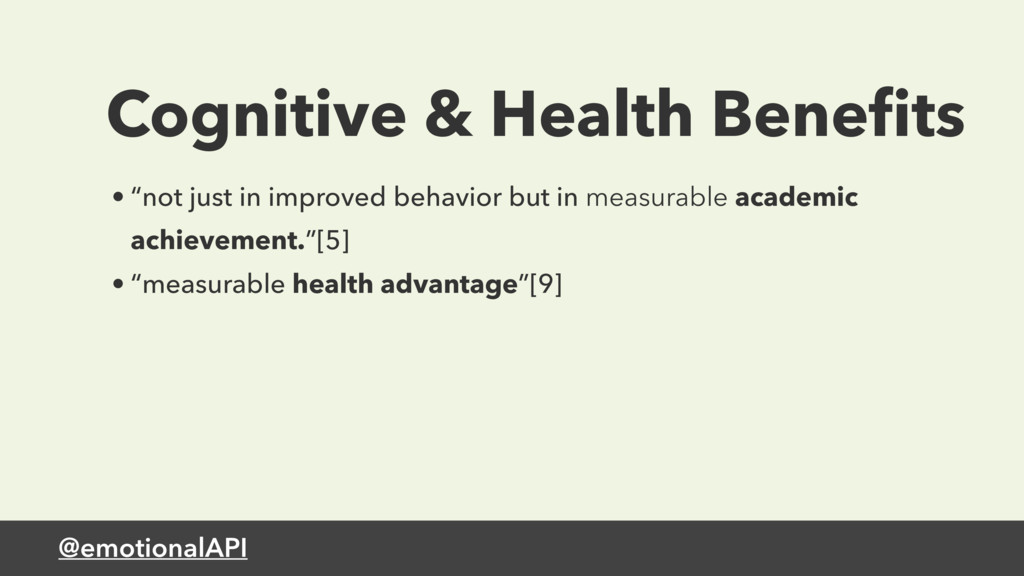 "@emotionalAPI Cognitive & Health Benefits • ""not..."