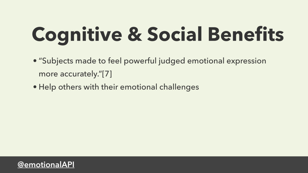 "@emotionalAPI Cognitive & Social Benefits • ""Sub..."