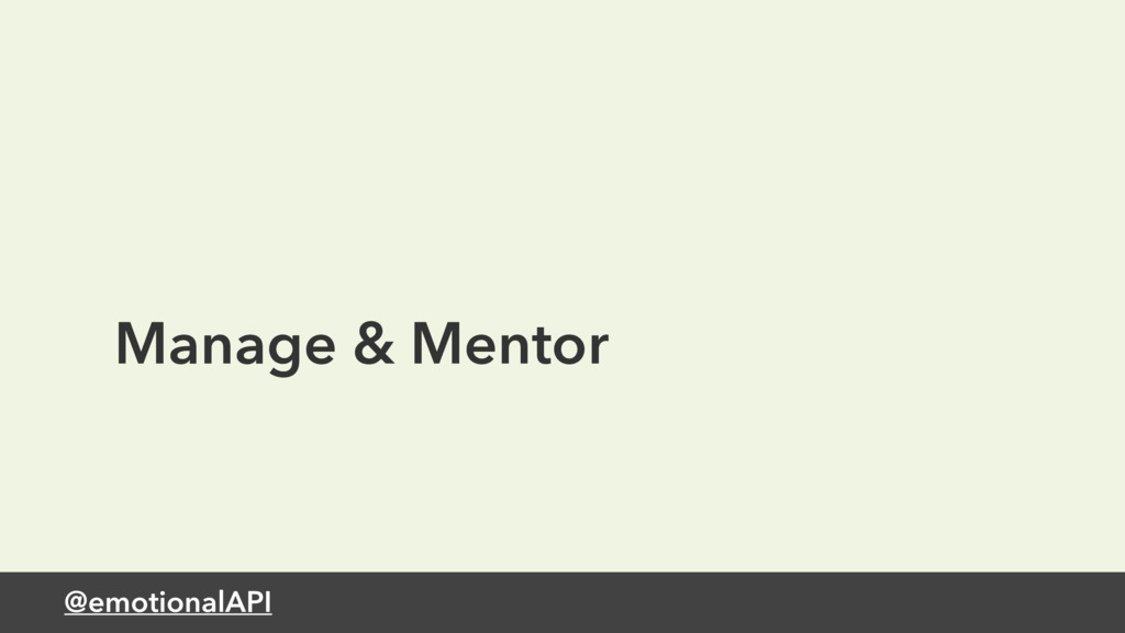 @emotionalAPI Manage & Mentor