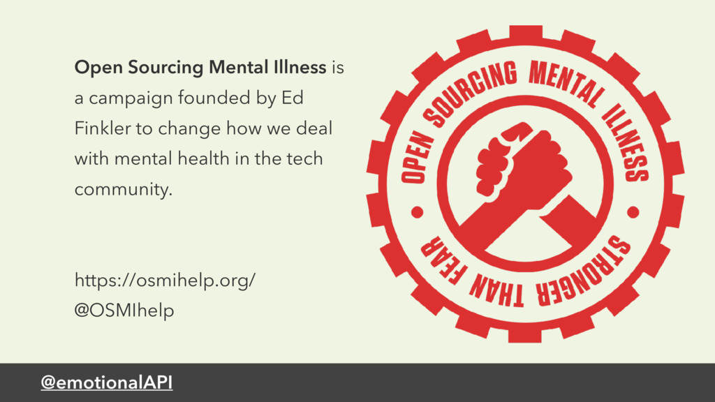 @emotionalAPI Open Sourcing Mental Illness is a...