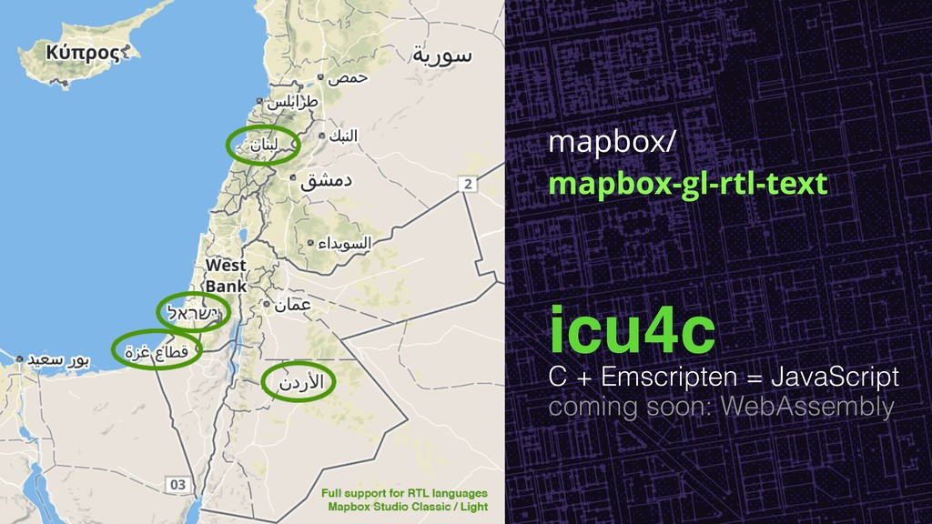 mapbox/ mapbox-gl-rtl-text icu4c C + Emscripten...