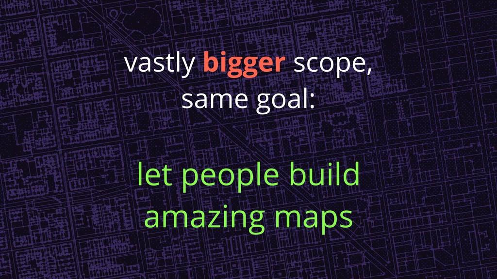 vastly bigger scope, same goal: let people buil...