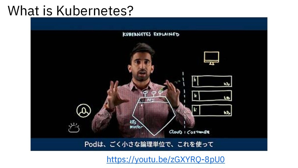 What is Kubernetes? https://youtu.be/zGXYRQ-8pU0