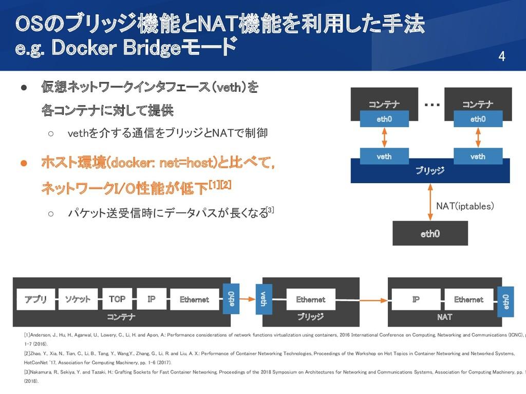 OSのブリッジ機能とNAT機能を利用した手法  e.g. Docker Bridgeモード...