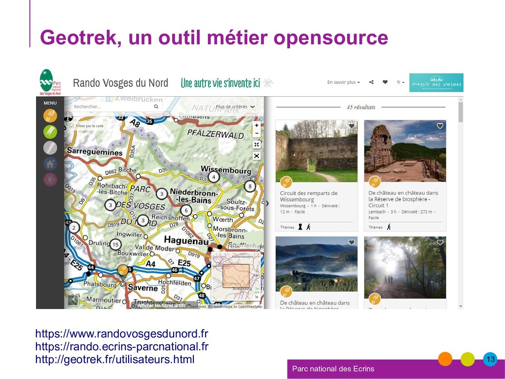 13 Parc national des Ecrins Geotrek, un outil m...