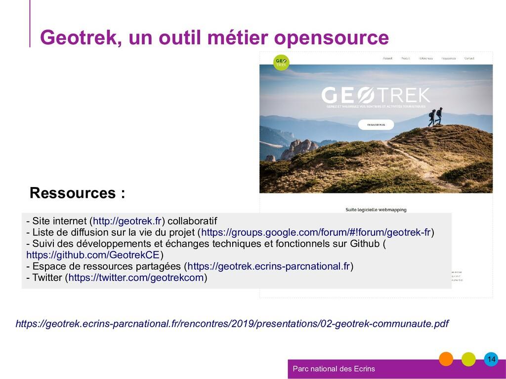 14 Parc national des Ecrins Geotrek, un outil m...