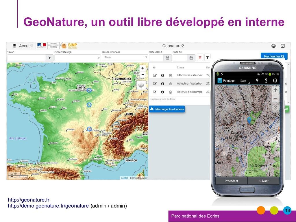 18 Parc national des Ecrins GeoNature, un outil...
