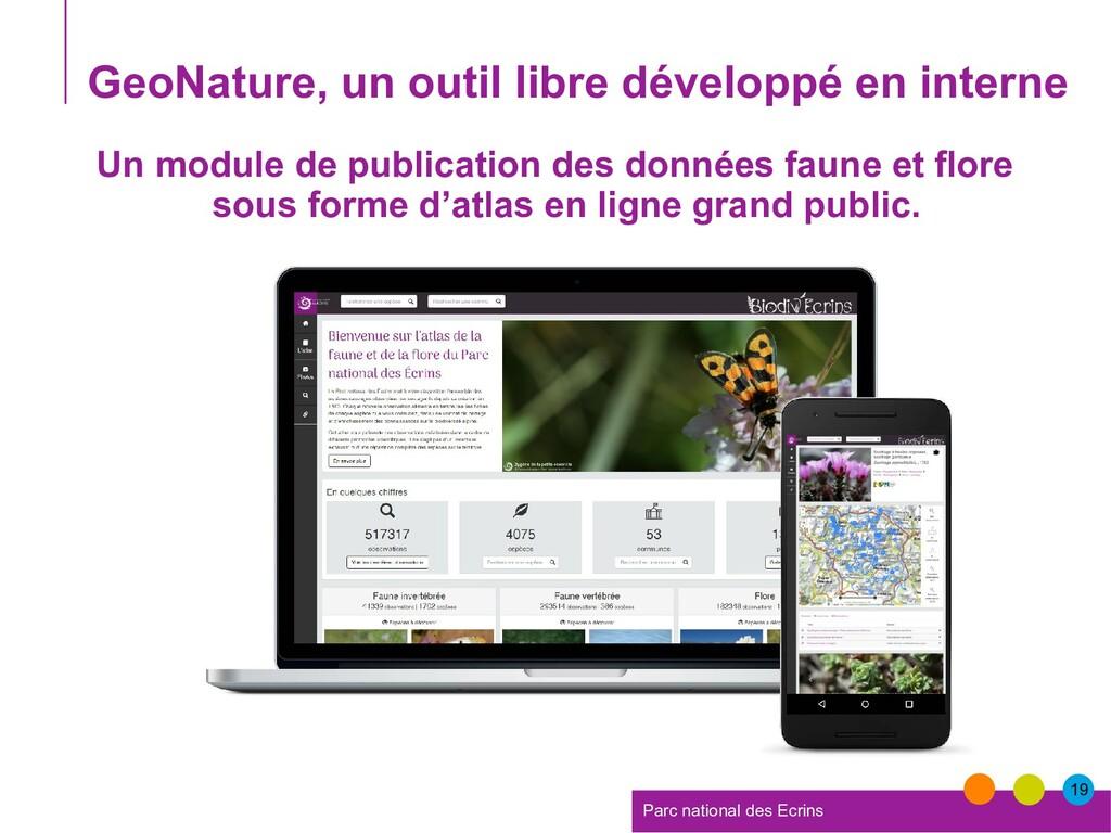 19 Parc national des Ecrins GeoNature, un outil...