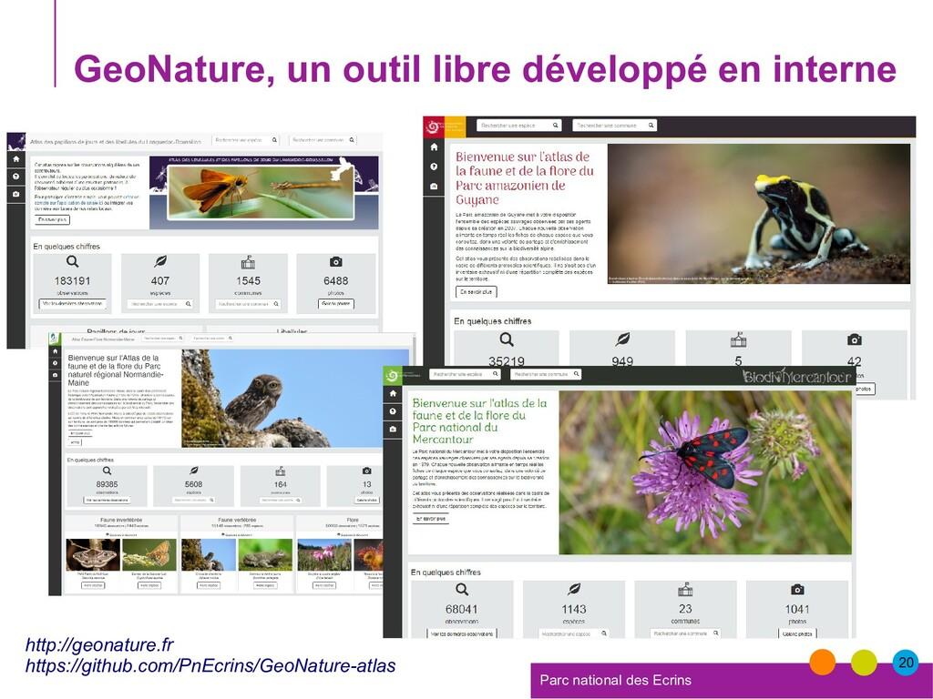 20 Parc national des Ecrins GeoNature, un outil...