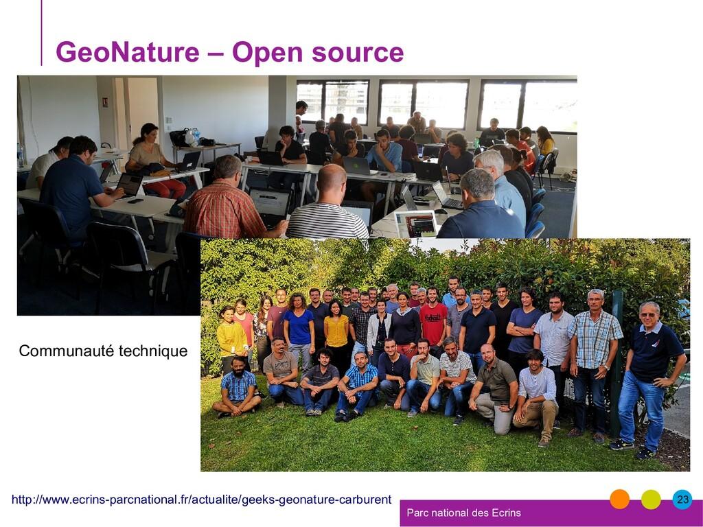 23 Parc national des Ecrins GeoNature – Open so...