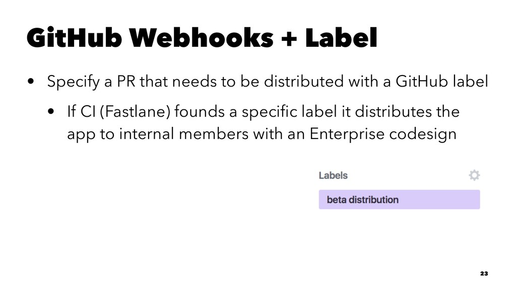 GitHub Webhooks + Label • Specify a PR that nee...