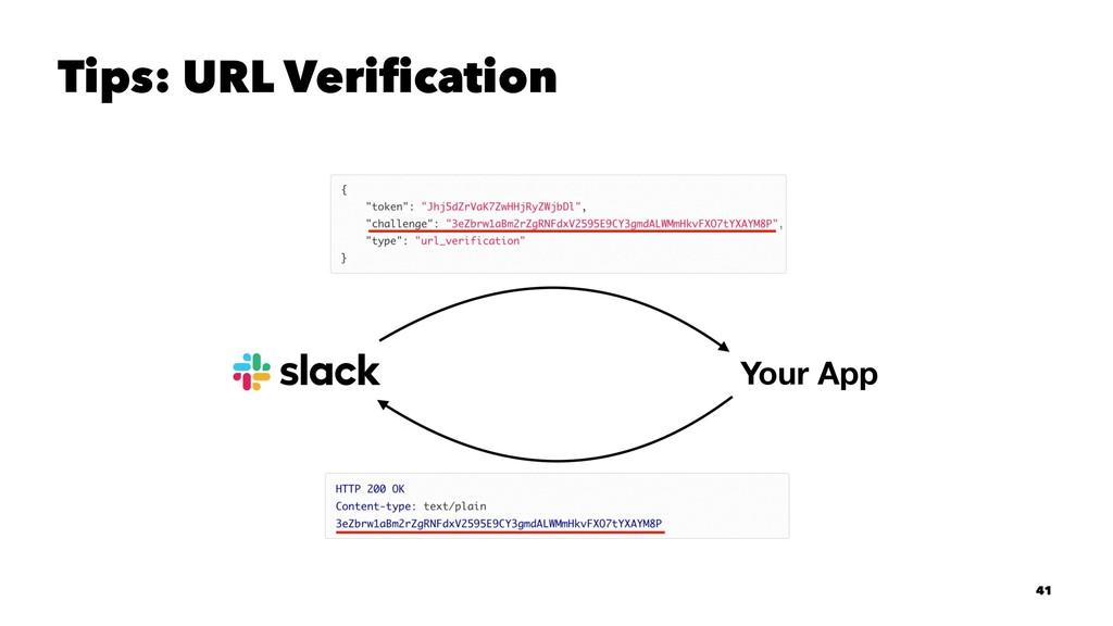 Tips: URL Verification 41