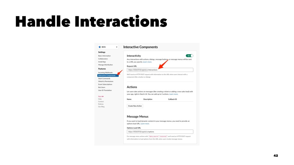 Handle Interactions 42