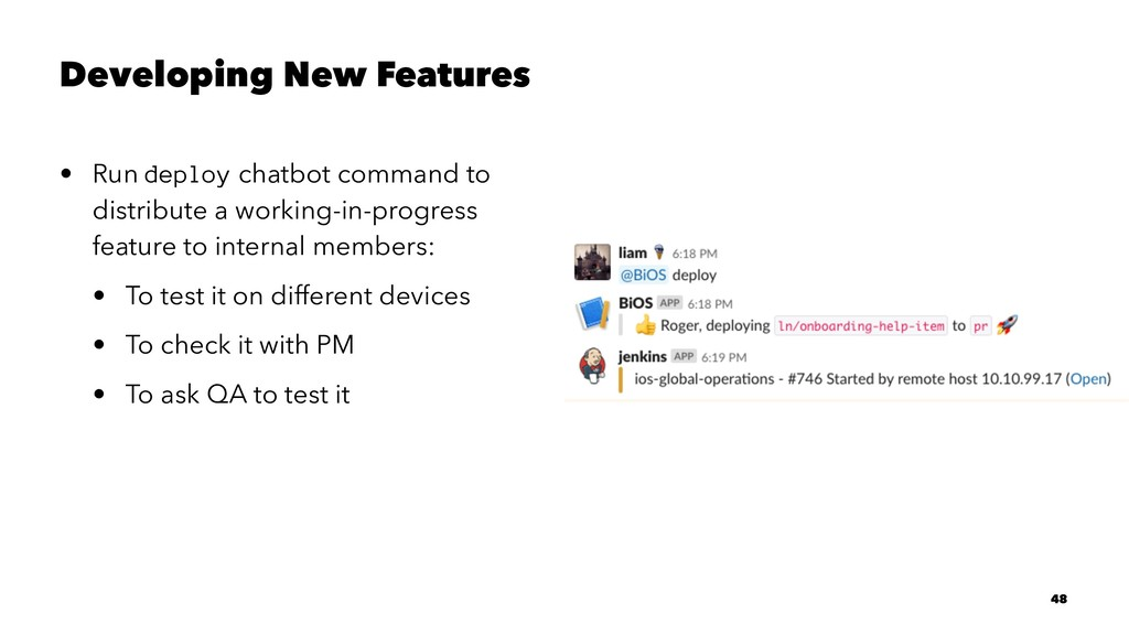 Developing New Features • Run deploy chatbot co...