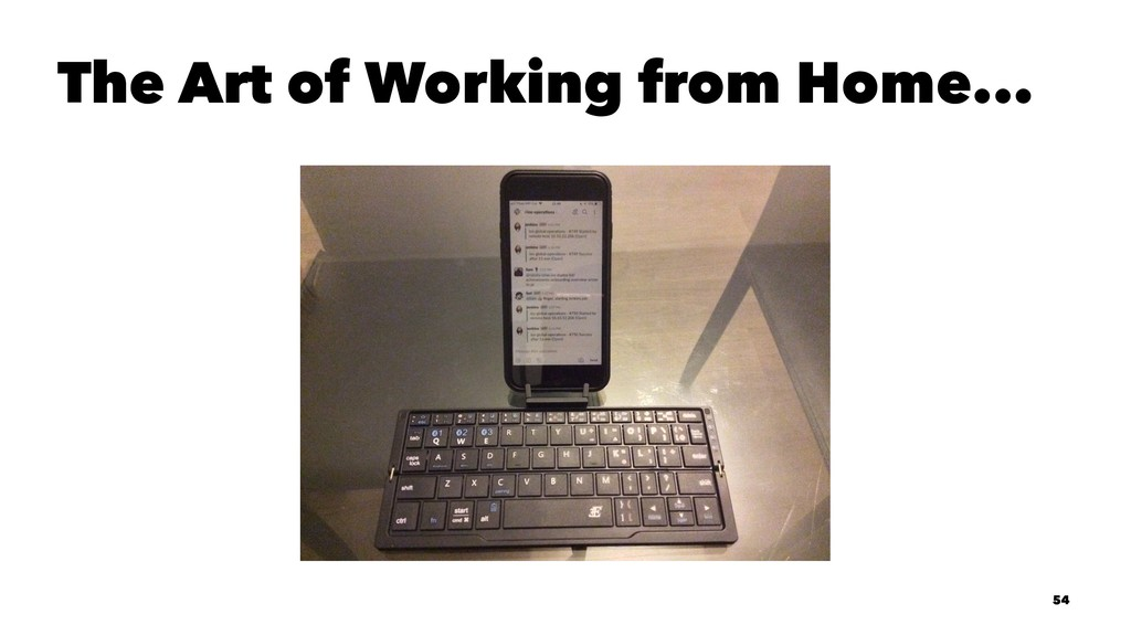 The Art of Working from Home... 54