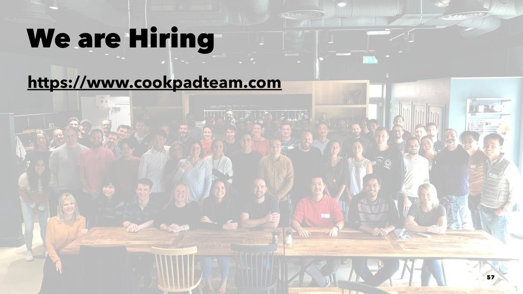 We are Hiring https://www.cookpadteam.com 57