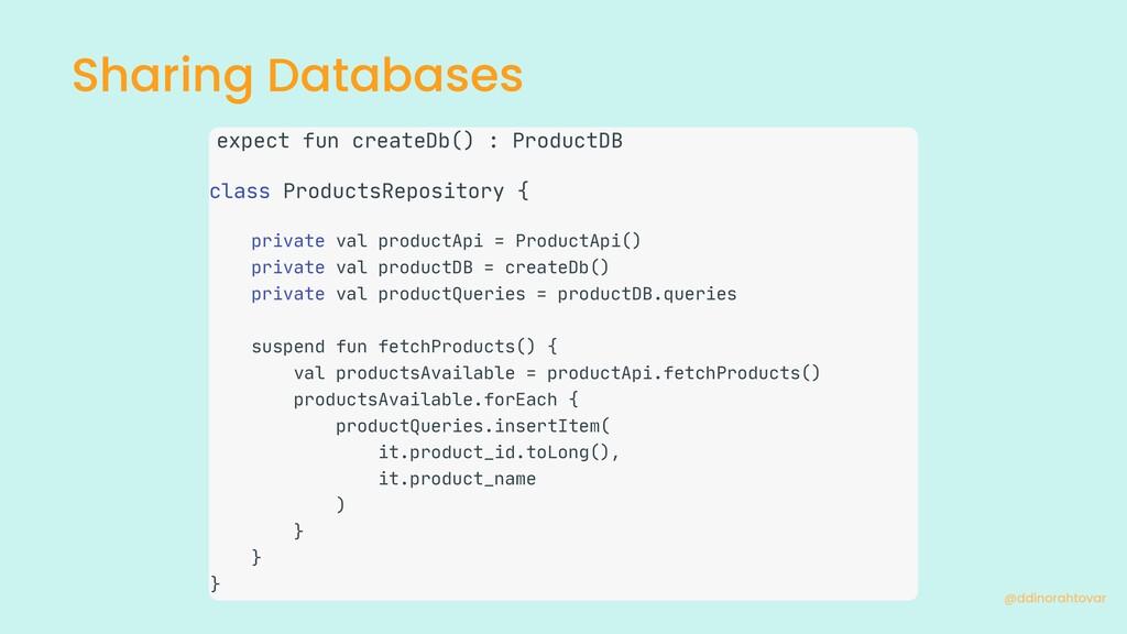 Sharing Databases @ddinorahtovar expect fun cre...